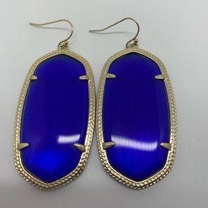 Danielle Earrings in Cobalt
